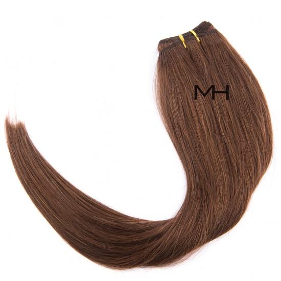55см Естествена коса Светло кестенява №08