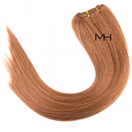 55см Естествена коса Тъмно Руса №10