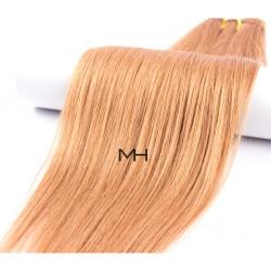 55см Естествена коса Златно руса №12