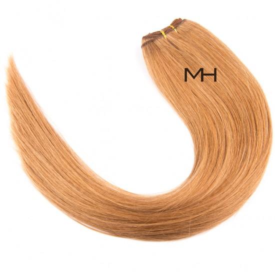 55см Естествена коса Пепелно руса №14