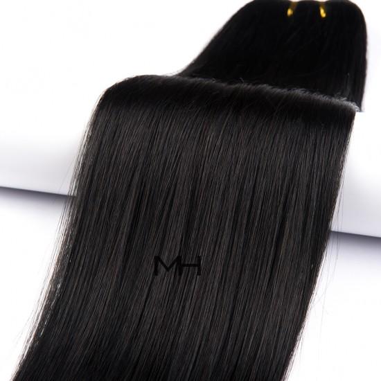 55см Естествена коса Тъмно кестенява №1b