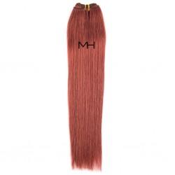 55см Естествена коса Червен махагон №33