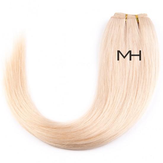 55см Естествена коса Платинено руса №60