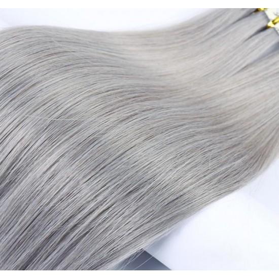 55см Естествена коса Сива №97