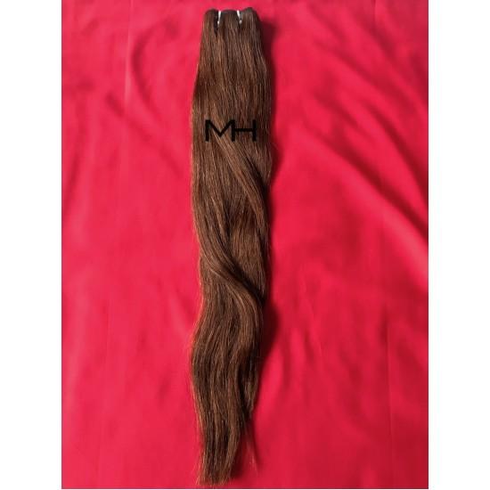 Реми коса 65см - Тъмно кестеняв №02