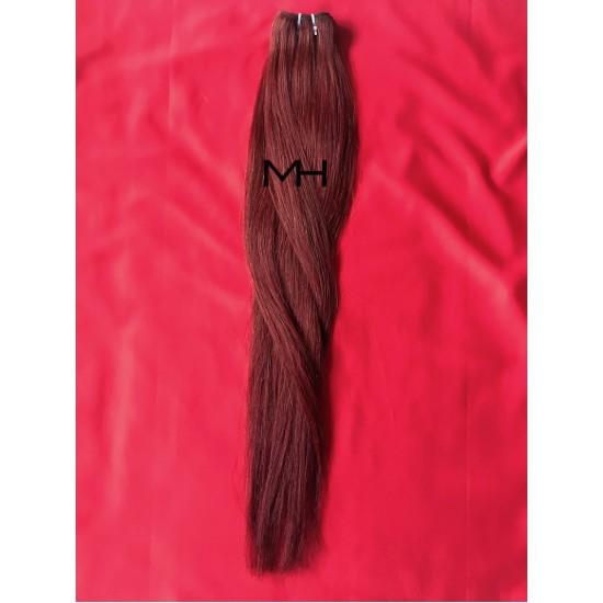 Реми коса 65см - Тъмно червен №99