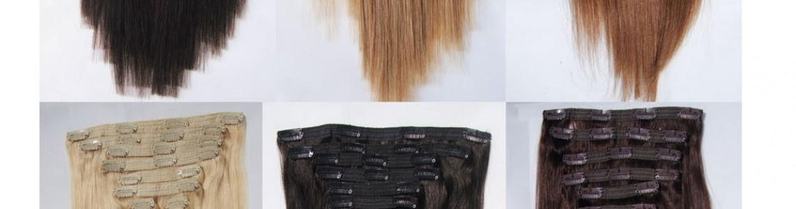 Коса на клипси 55см
