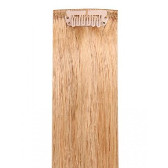 Коса на клипси - златен кестен №16