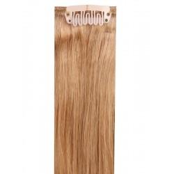 Коса на клипси - златно кестенява №12