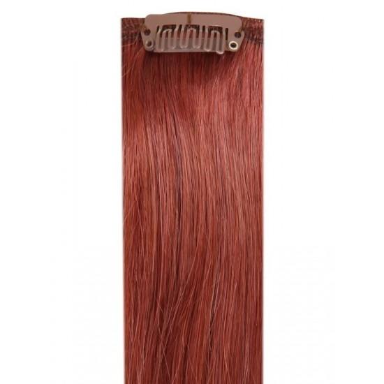Коса на клипси - Златно кестенява №33