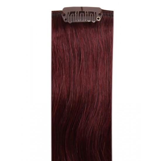 Коса на клипси - Лилава №99J