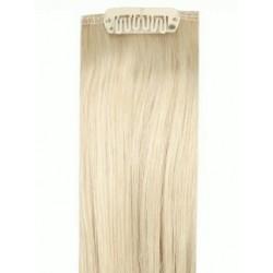 Коса на клипси - Платинено руса №60