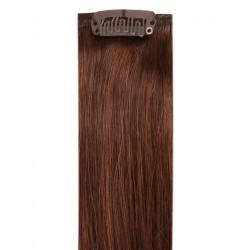 Коса на клипси - светло кестенява №04