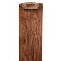 Коса на клипси - светло кестенява №06