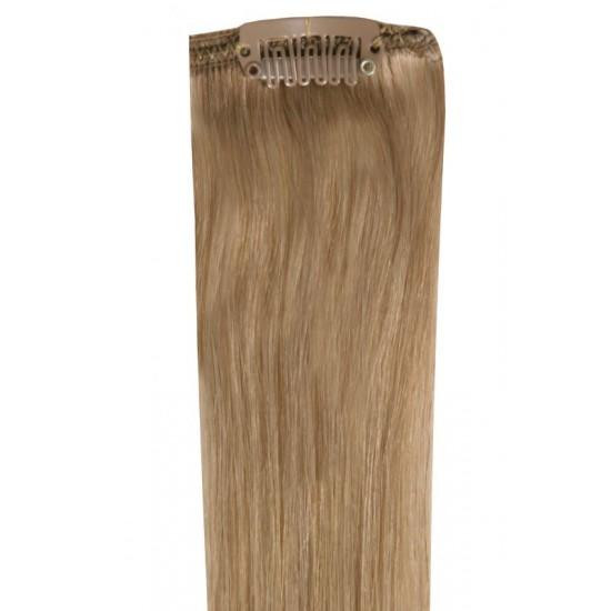 Коса на клипси - светло кестенява №10
