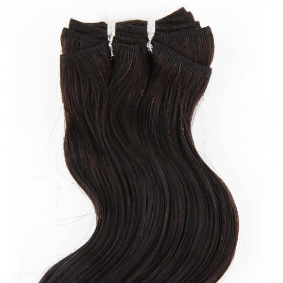Чуплива коса - Натурален черен №1b